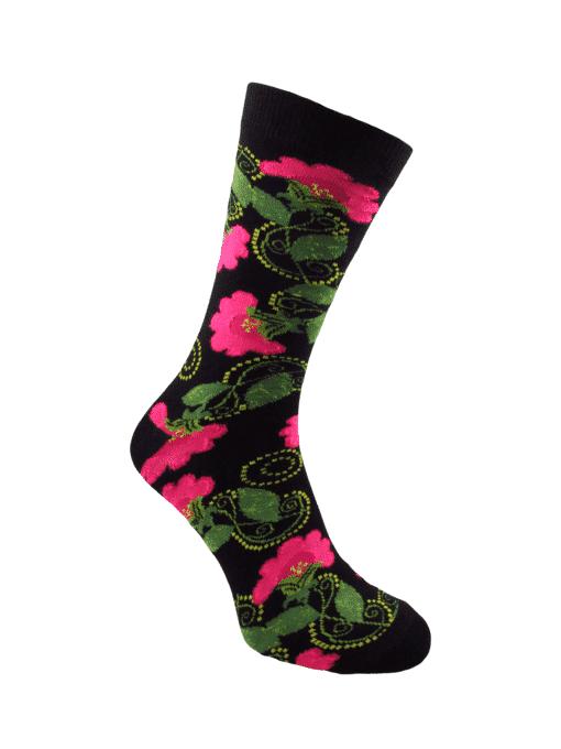 черен чорап мак