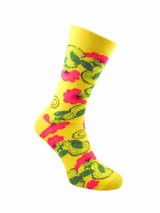 жълт чорап мак