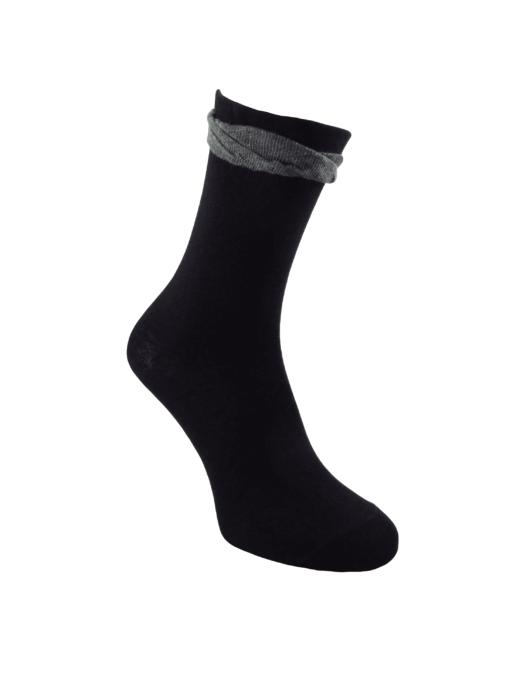 черни чорапи с фестон луксозни