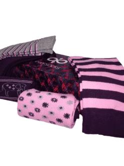 дамски слончета чорапи лила 5