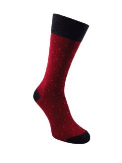 мъжки чорапи бордо луксозни