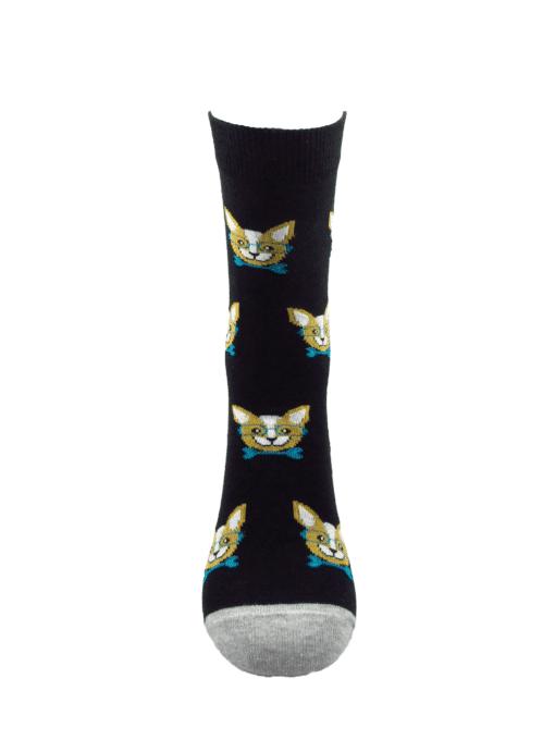 дамски черни чихуахуа чорапи