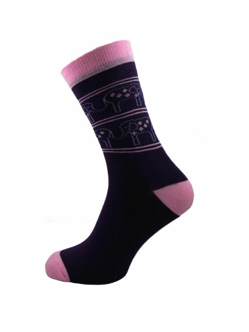 дамски слончета чорапи лилави