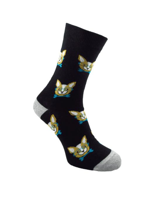 дамски чихуахуа чорапи черни