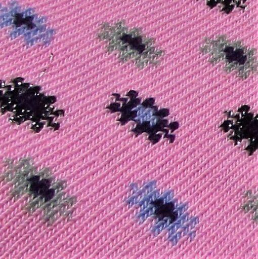 цветя чорап лила