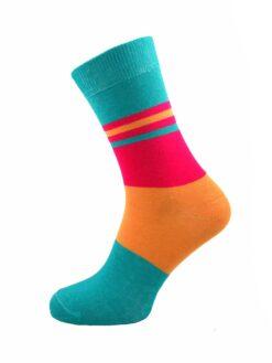 дамски цветен чорап