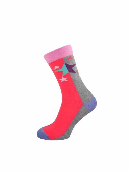 дамски звезди чорап циклама