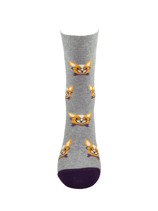 дамски чорапи чихуахуа лилаво