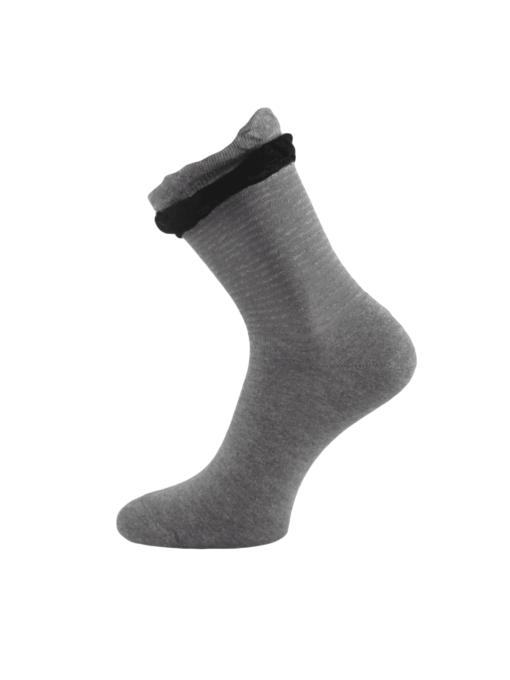 дамски чорапи с черен фестон
