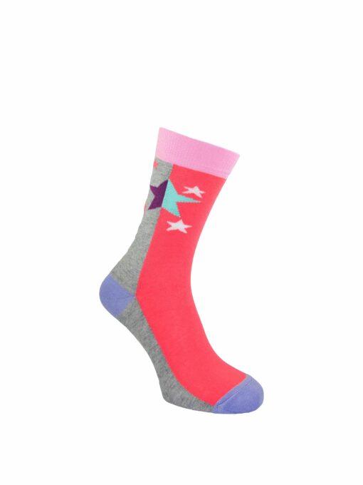 дамски звезди чорапи циклама