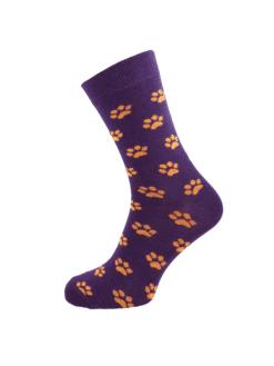 дамски чорапи лапичка лилаво