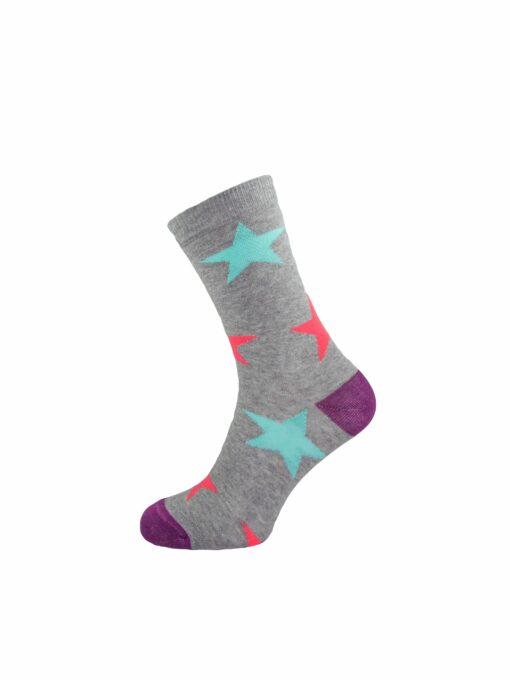 дамски звезди чорап сиво