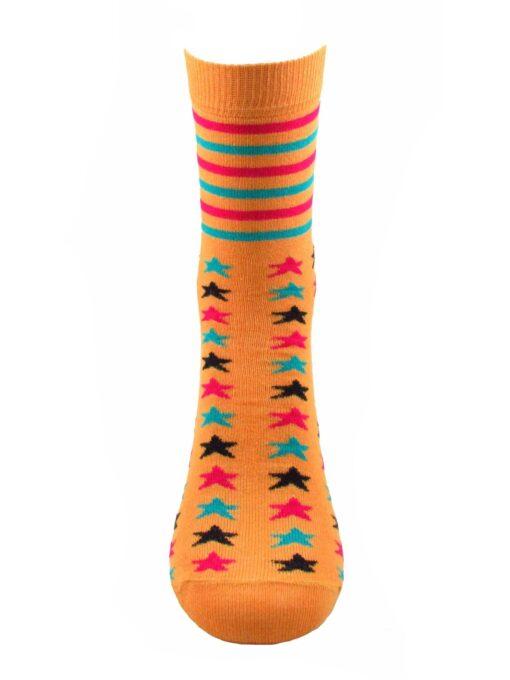 дамкси цветни звезди чорап