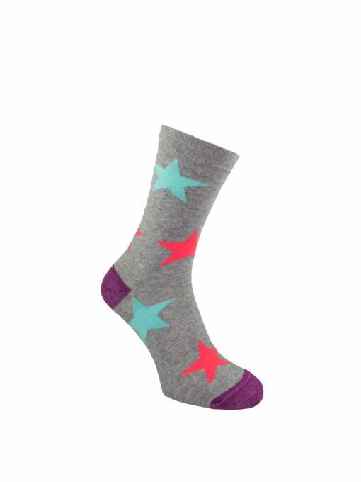 дамски звезди чорап сиви