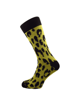 жълти чорапи за мъже с шарка