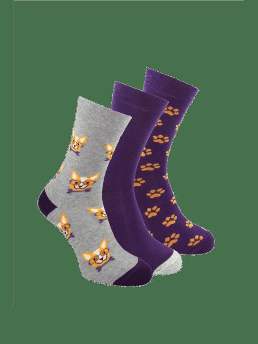 дамски 3 чифта чорапи