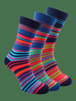 3 чифта цветни мъжки чорапи