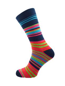 мъжки чорапи с цветни райета