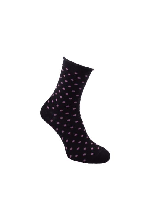 дамски чорапи без ластик лила