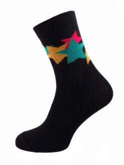 дамски чорапи звезди черно