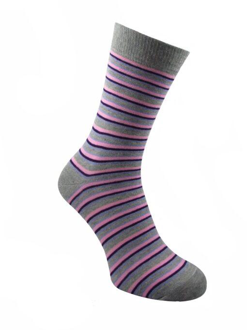дамски рингел чорап лила