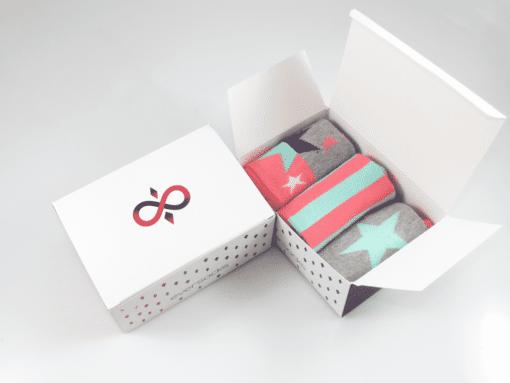 чорапи в кутия със звезди 3 чифта