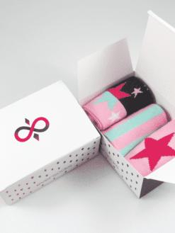 дамски чорапи в кутия звездички