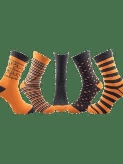 5 чифта дамски чорапи оранжеви