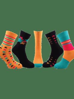5 чифта дамски чорапи звезди