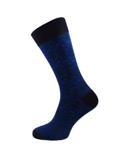 сини чорапи за мъже с лисици лукс