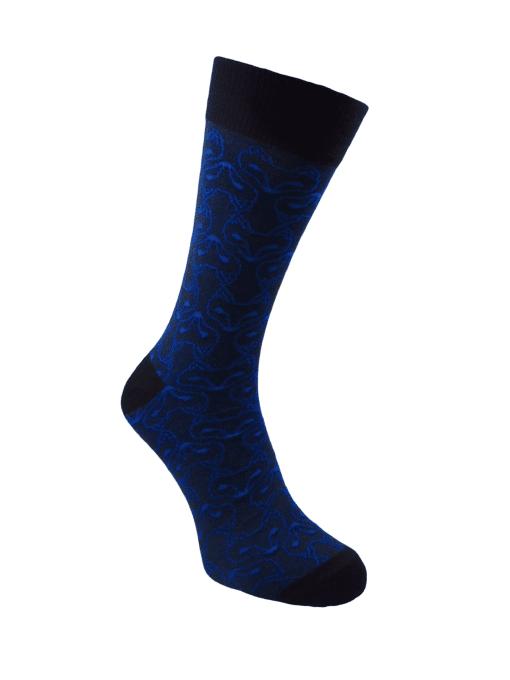 сини чорапи с лисици