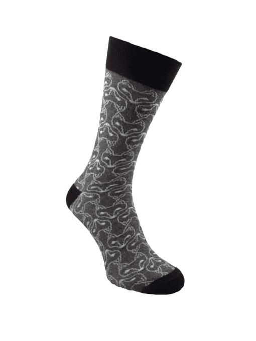 сиви луксозни чорапи лисици