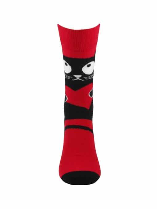 чорапи с котка и сърце