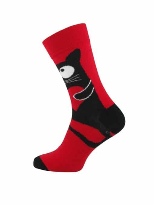 чорапи със голямо сърце и котка