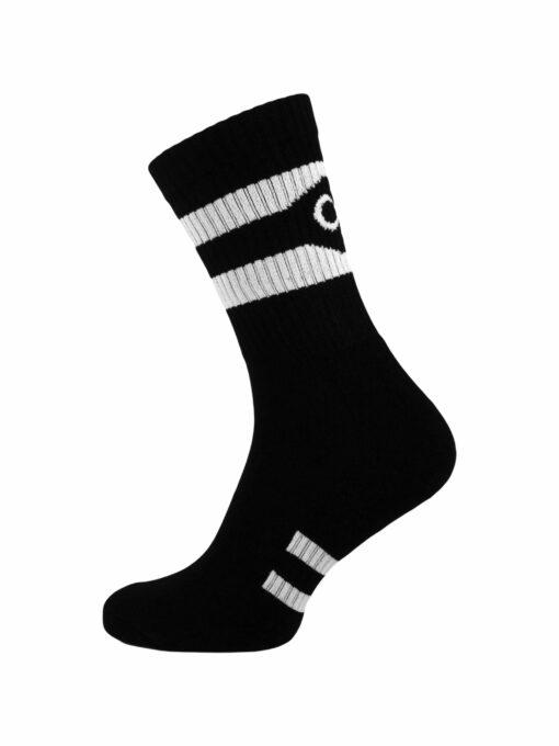 чорапи спорт черни с бяло памук