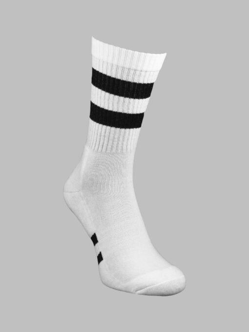 чорапи спорт бели с черно
